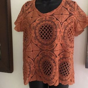 Anthropologie medallion lace top James Coliello